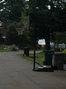 Basketball hoop on Lakeview